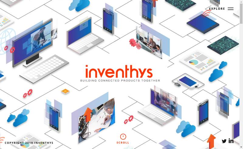 Capture d'écran du site de Inventhys