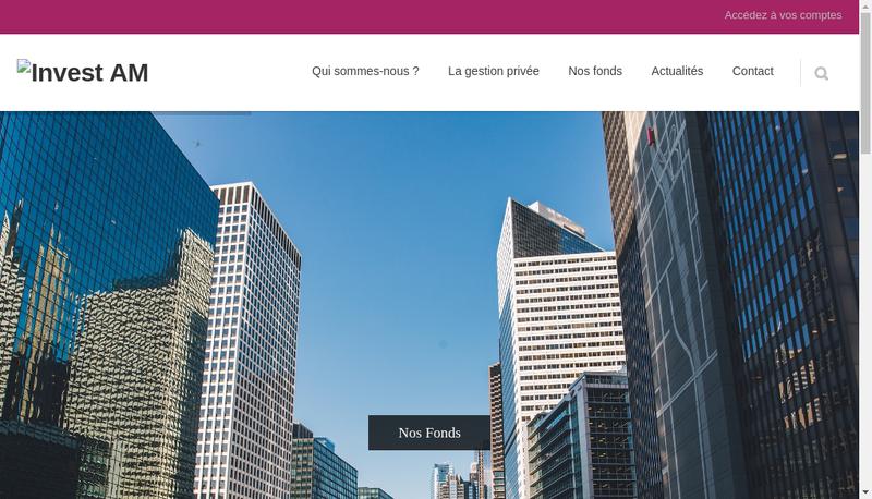 Capture d'écran du site de Invest Am