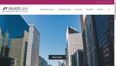 Site internet de Invest Am