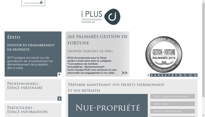 Capture d'écran du site de Iplus