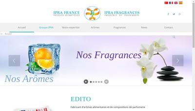 Site internet de Ipra France Industrie de Parfumerie et Recherches Aromatiques