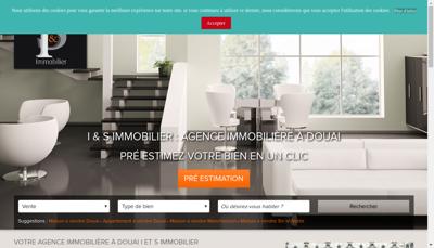 Capture d'écran du site de I&S Immobilier