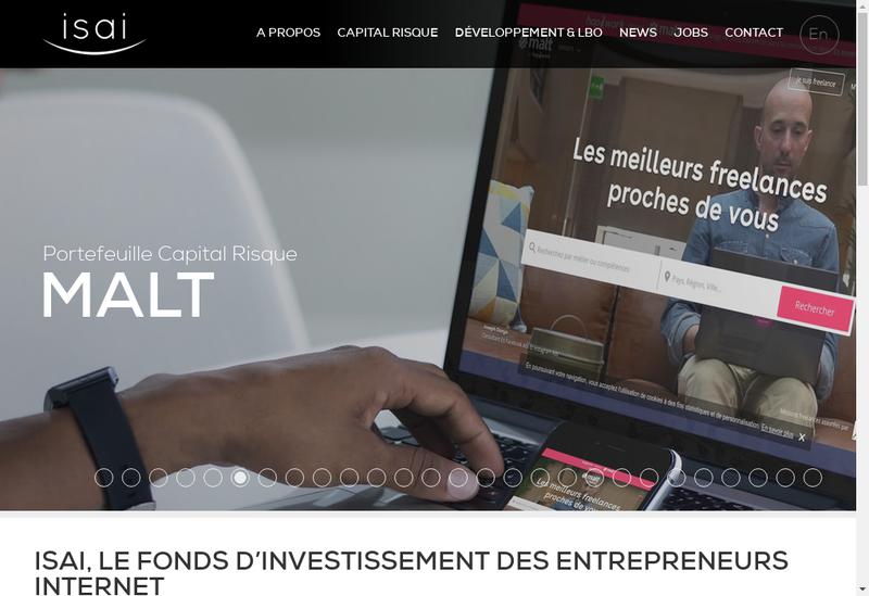Capture d'écran du site de Isai Gestion