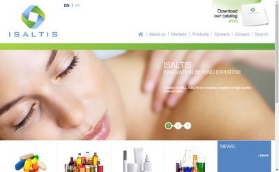 Site internet de Isaltis