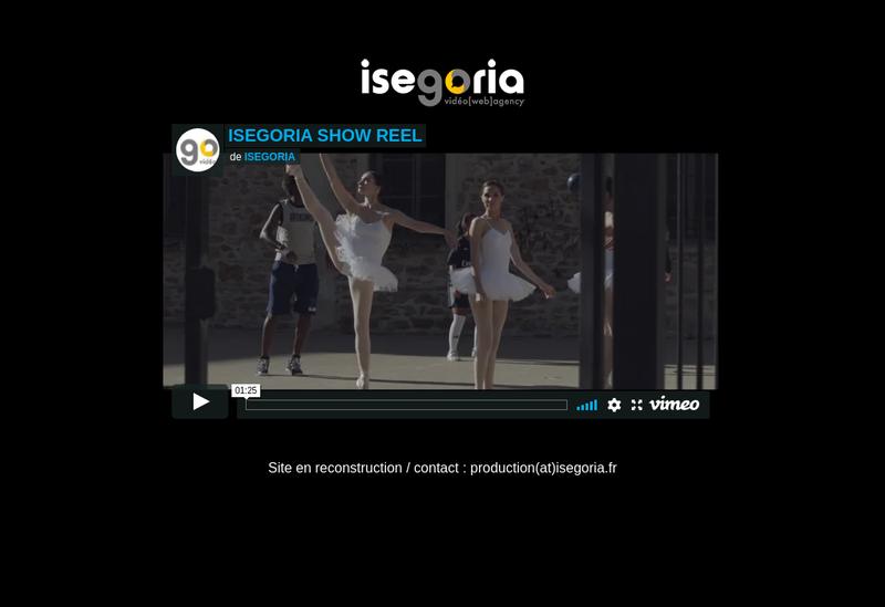 Capture d'écran du site de Isegoria