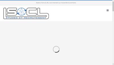 Capture d'écran du site de Isocl
