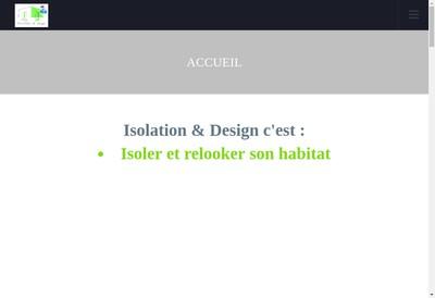 Site internet de Isolation & Design