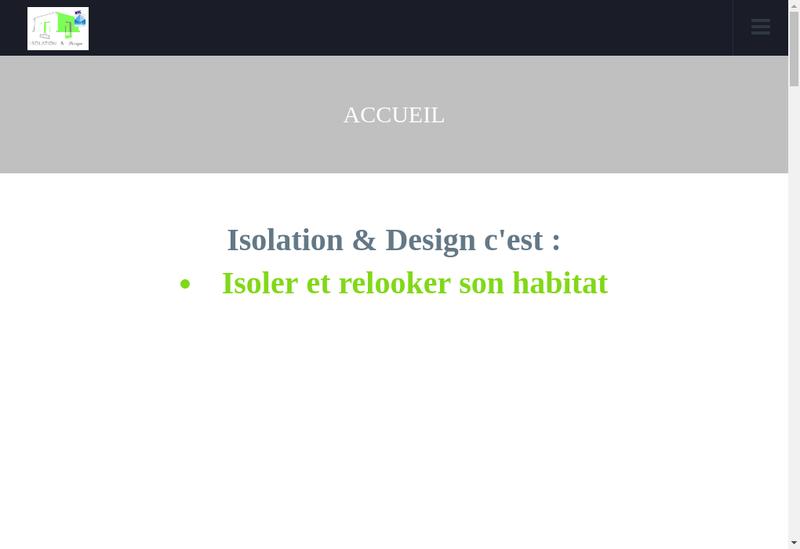 Capture d'écran du site de Isolation & Design