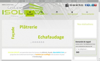 Site internet de Isoleaa Groupe