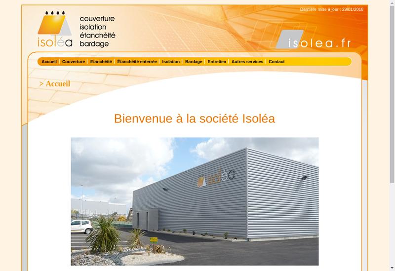 Capture d'écran du site de Isolea