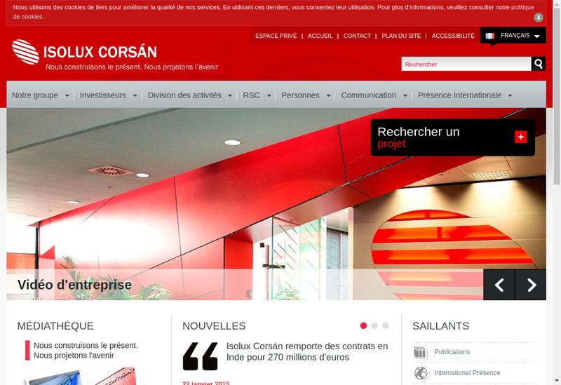 Capture d'écran du site de SARL Isolux