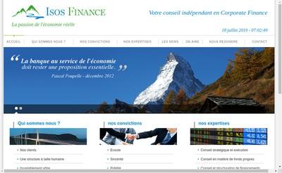 Site internet de Isos Finance