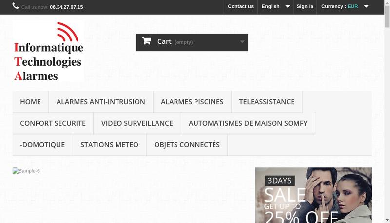 Capture d'écran du site de Patrice Ferragut
