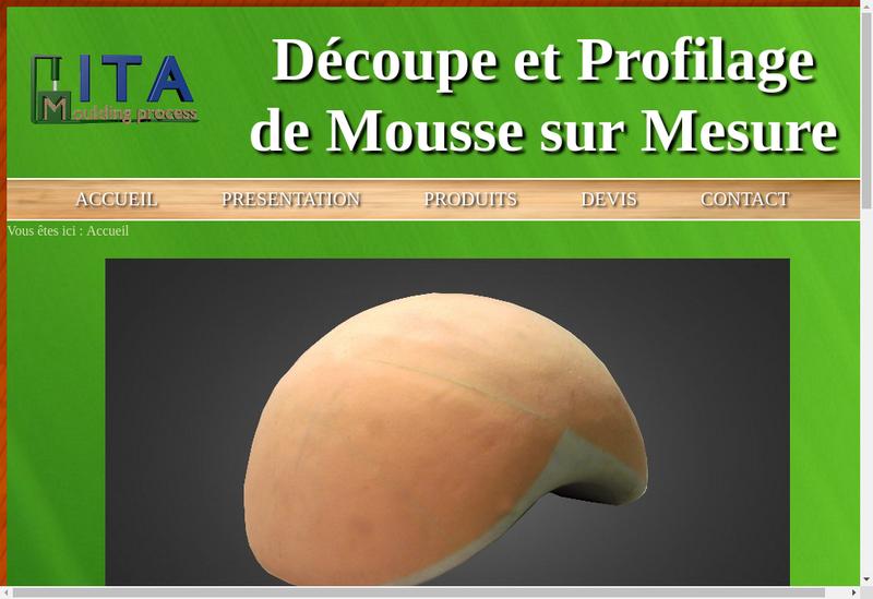 Capture d'écran du site de Ita Moulding Process