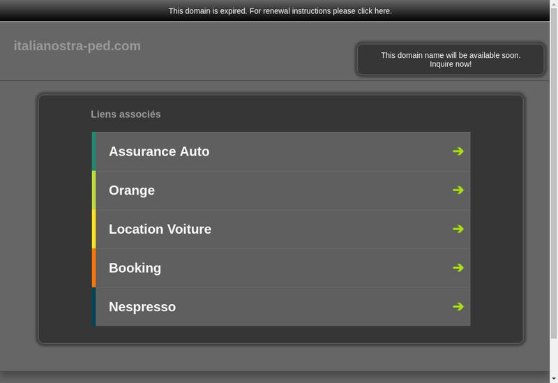 Capture d'écran du site de Italia Nostra