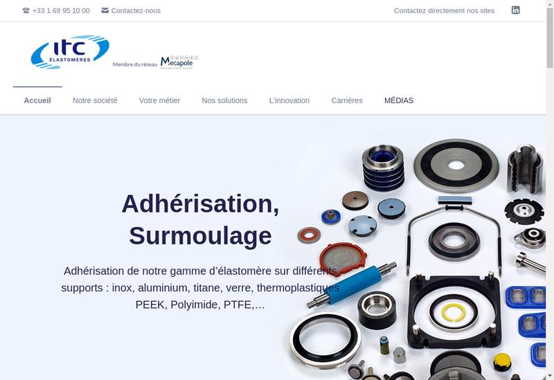 Capture d'écran du site de Itc Elastomeres