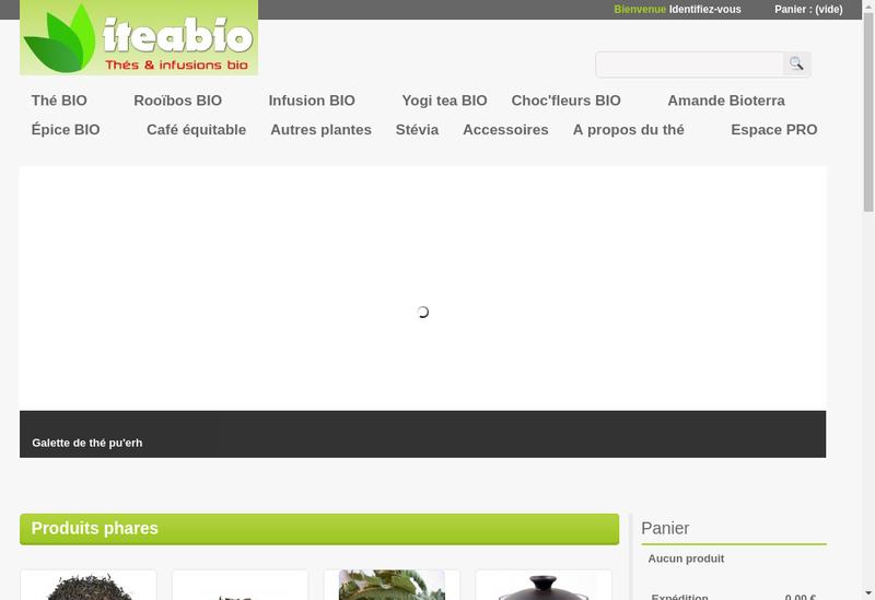 Capture d'écran du site de Bioterra