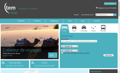 Site internet de Item Voyage