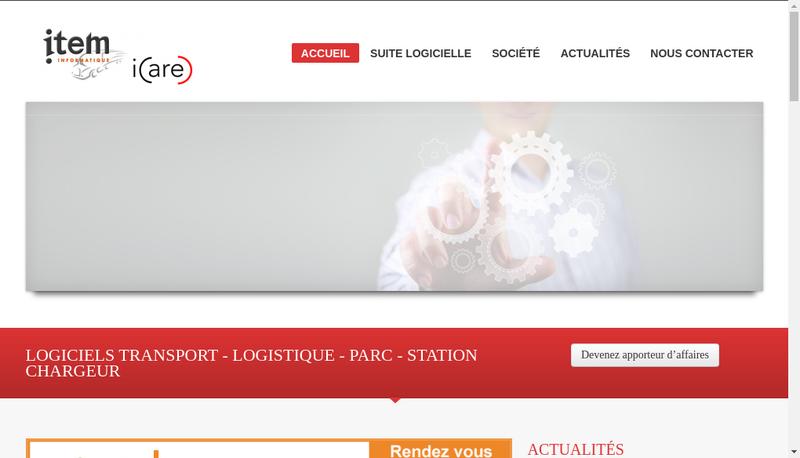 Capture d'écran du site de Item Informatique