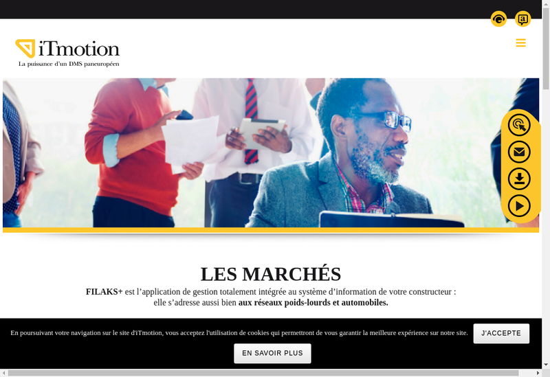 Capture d'écran du site de Itmotion