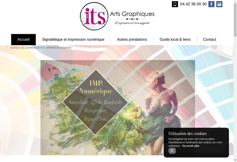 Capture d'écran du site de Its Arts Graphiques