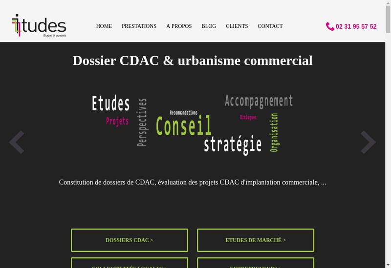 Capture d'écran du site de Itudes