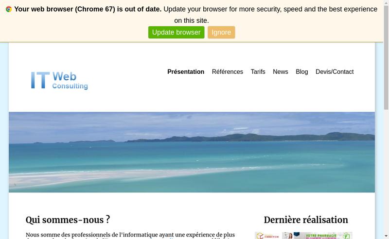 Site internet de It Web Consulting