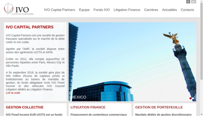 Capture d'écran du site de Ivo Capital Partners