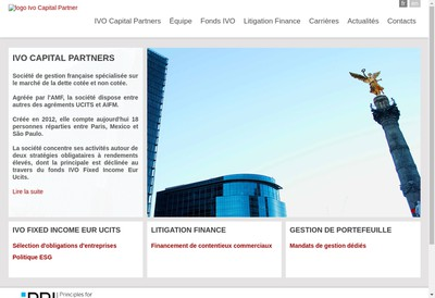 Site internet de Ivo Capital Partners