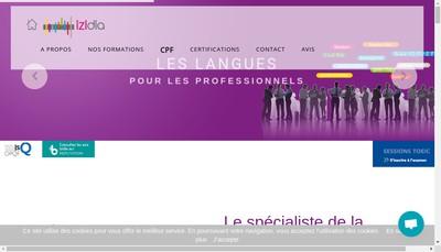 Site internet de IZIDIA