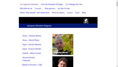 Capture d'écran du site de Jacques Mordret Negoce