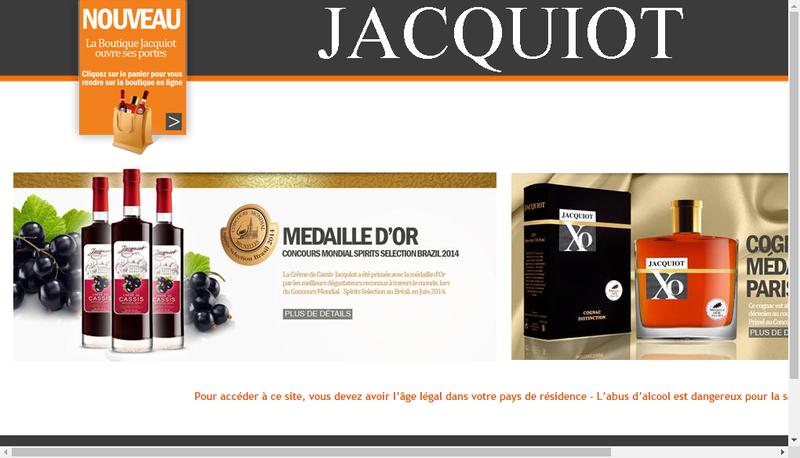 Capture d'écran du site de Jacquiot