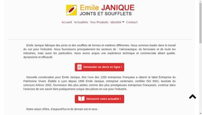 Site internet de Emile JANIQUE