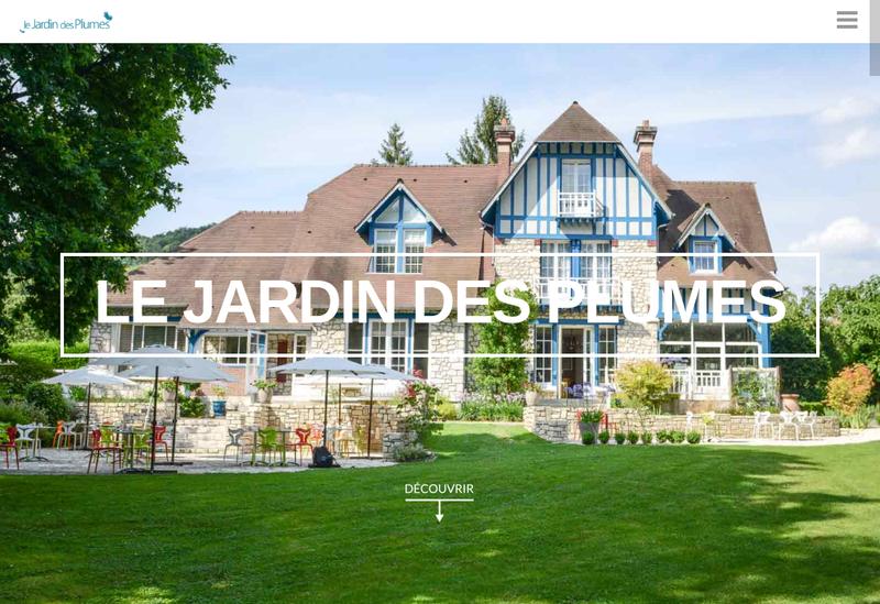 Capture d'écran du site de Le Jardin des Plumes