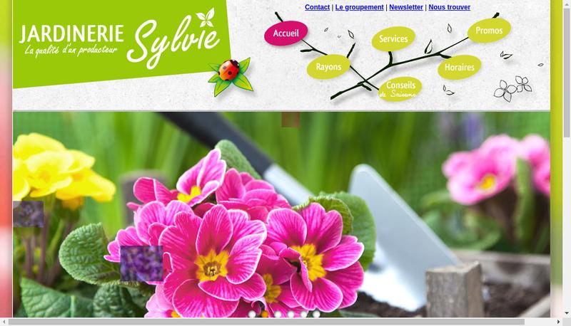 Capture d'écran du site de Sylvie Horticulture
