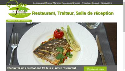 Capture d'écran du site de Les Jardins de St Laurent