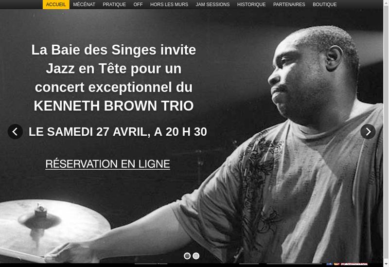 Capture d'écran du site de Jazz en Tete