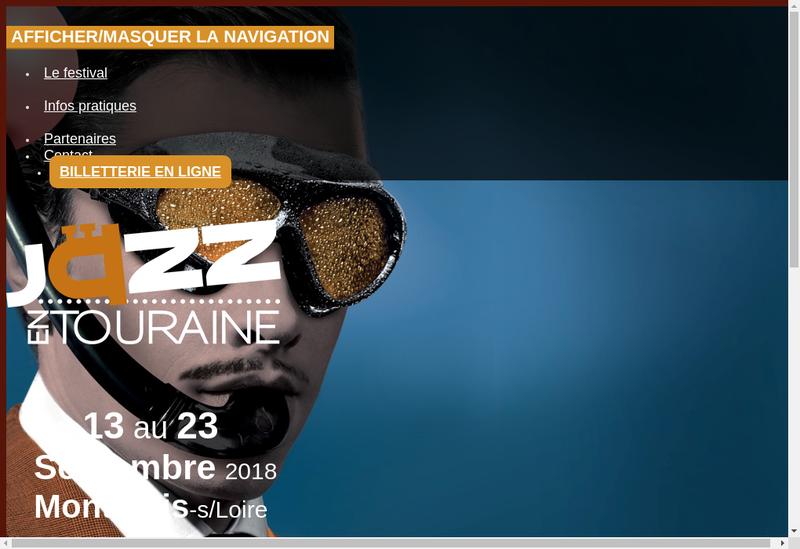 Capture d'écran du site de Ass Festival Jazz en Touraine