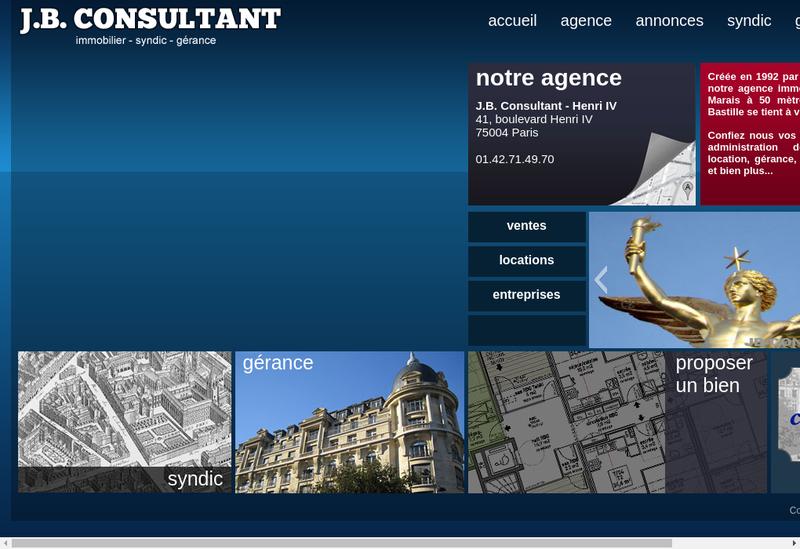 Capture d'écran du site de Jb Consultant