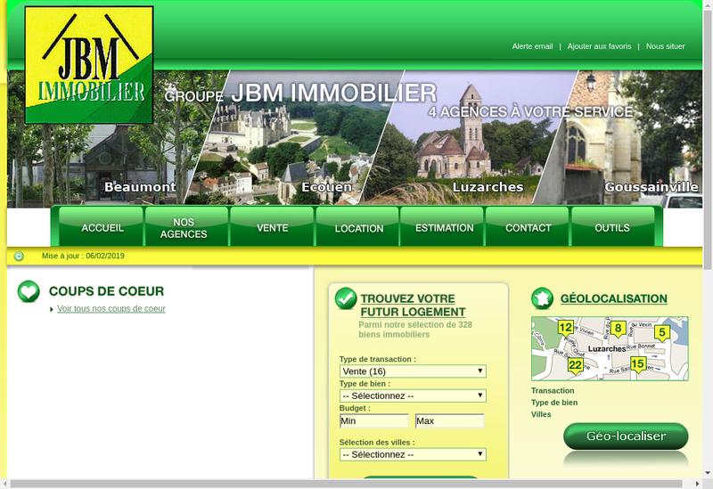 Capture d'écran du site de Jbm Immobilier