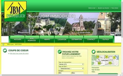 Site internet de Jbm Immobilier