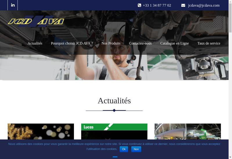 Capture d'écran du site de Jcd Distribution