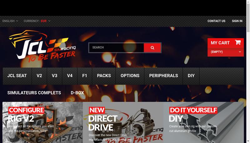 Capture d'écran du site de SARL Jcl