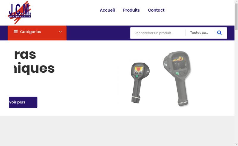 Capture d'écran du site de Jcm Distribution