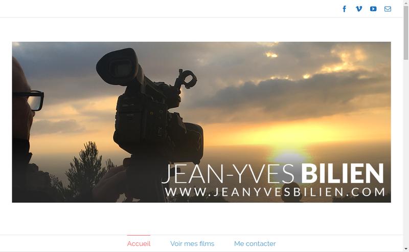 Capture d'écran du site de Jean-Yves Bilien
