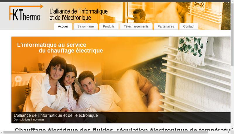 Capture d'écran du site de Fk Thermo