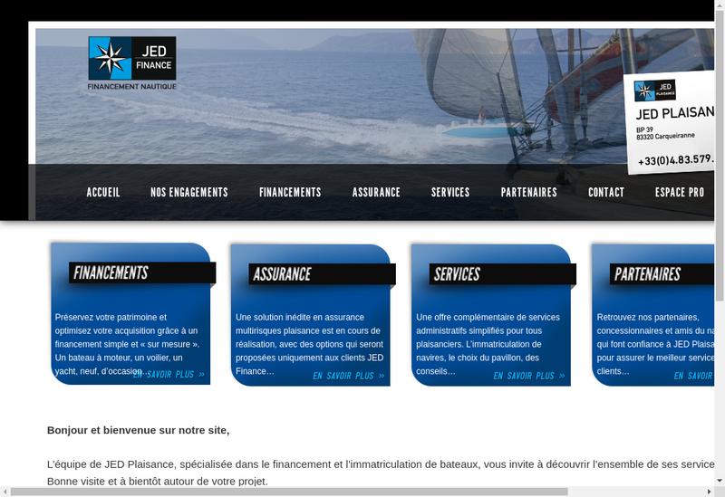 Capture d'écran du site de Jed Plaisance