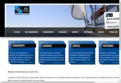 Site internet de Jed Plaisance, Jed Finance, Jed Assurance, Jed Consult