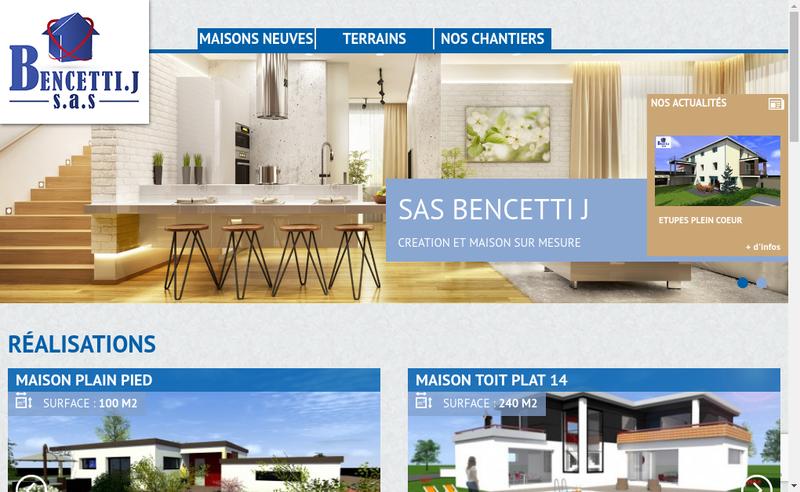 Capture d'écran du site de Jeremy Bencetti