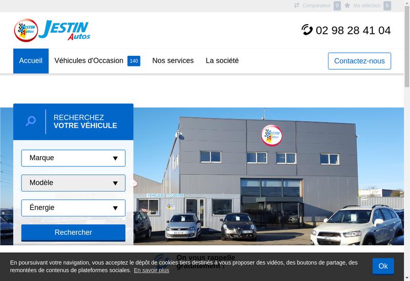 Capture d'écran du site de Jestin Auto